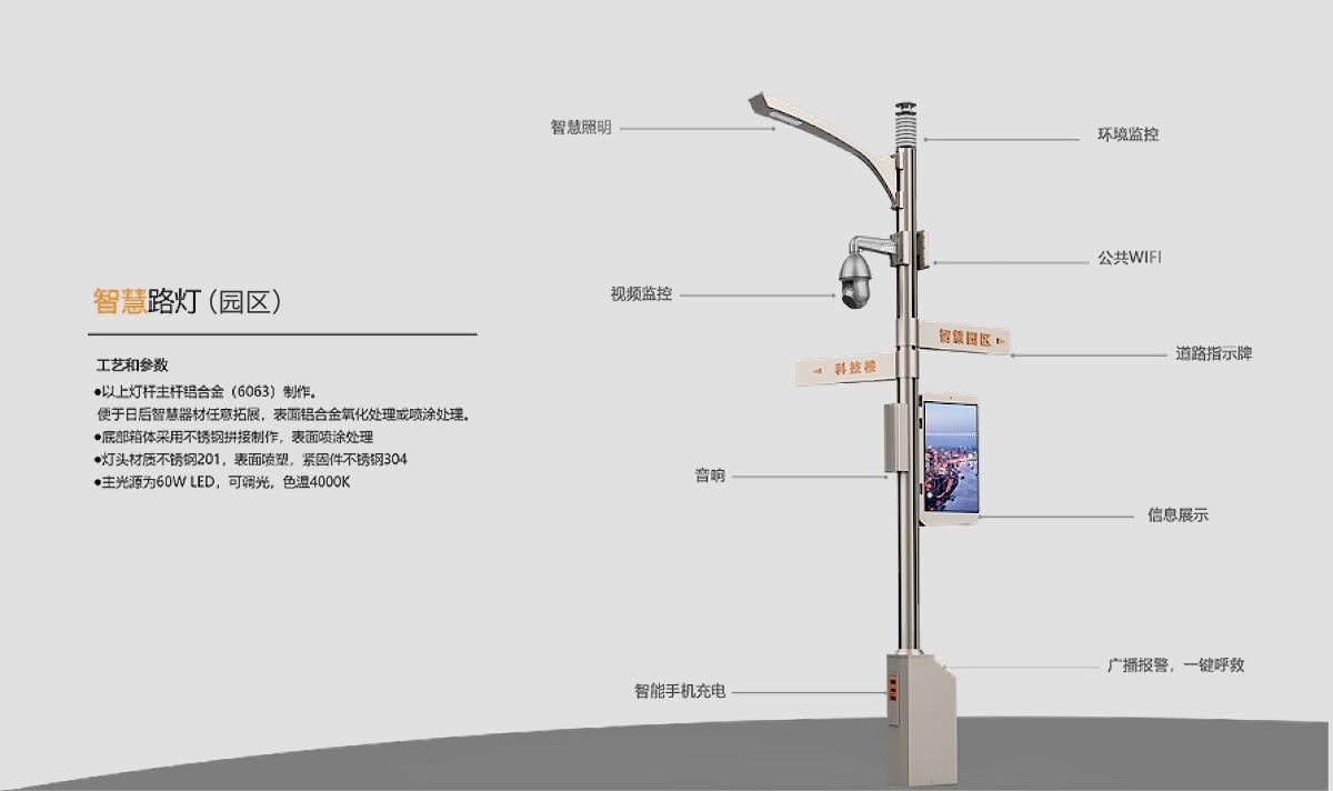 园区智慧灯杆系统功能